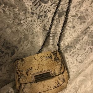 Vintage Coach snakeskin with chain strap